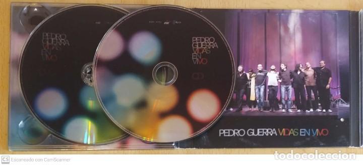 CDs de Música: PEDRO GUERRA (VIDAS - EN VIVO) CD + DVD 2008 - MIGUEL RIOS, BEBE, ISMAEL SERRANO, LUIS PASTOR.. - Foto 3 - 253524900