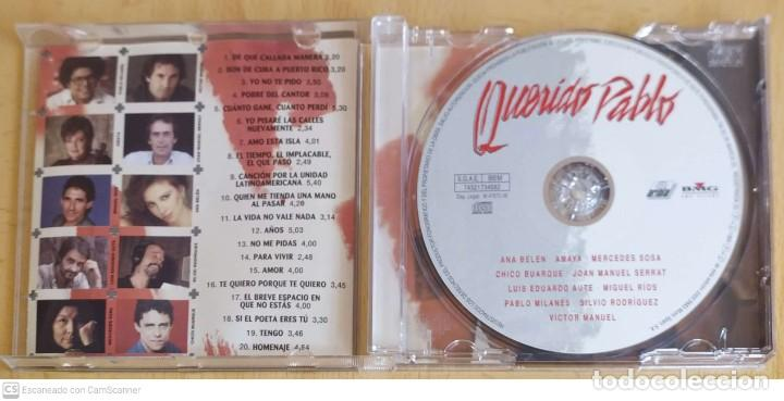 CDs de Música: PABLO MILANES (QUERIDO PABLO) CD 1999 (SERRAT, AUTE, MIGUEL RIOS, ANA BELEN, SILVIO RODRIGUEZ..) - Foto 3 - 253530765