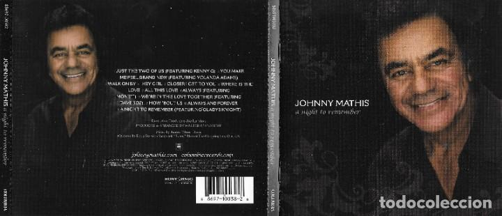 JOHNNY MATHIS - A NIGHT TO REMEMBER (Música - CD's Melódica )