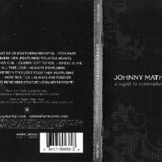 CDs de Música: JOHNNY MATHIS - A NIGHT TO REMEMBER. Lote 253543495