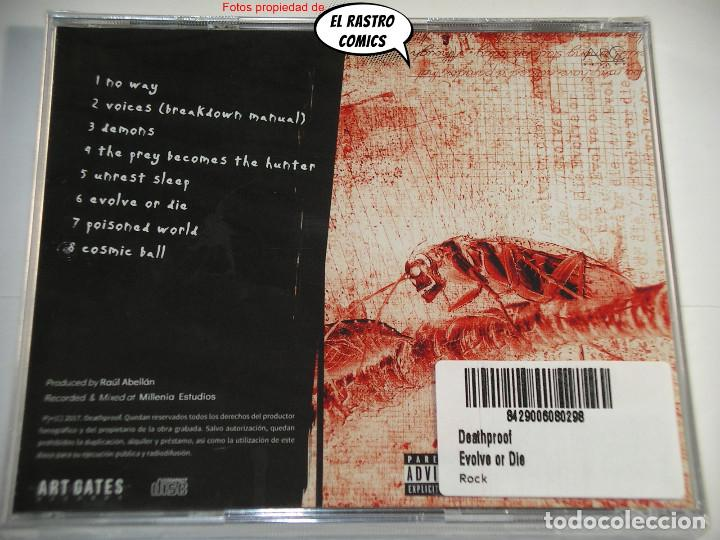 CDs de Música: Deathproof, Evolve or die, CD precintado, Art Gates 2017, Thrash, Groove Metal, Valencia, Manises - Foto 3 - 253558070
