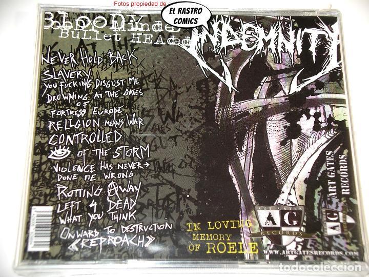 CDs de Música: Indemnity Bloddy Minded Bullet Headed precintado CD Art Gates 2017 Thrash Post Hardcore Punk Belgica - Foto 3 - 253559530