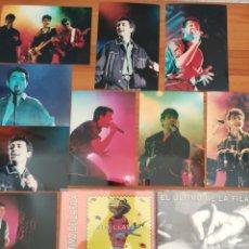 CDs de Música: LOTE EL ÚLTIMO DE LA FILA. 2 SINGLES PROMO Y FOTOGRAFÍAS. MANOLO GARCÍA QUIMI PORTET. LOS BURROS.. Lote 253619490