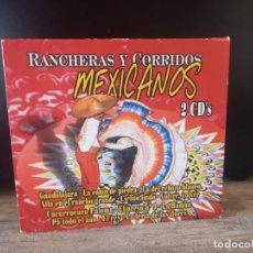 CDs de Música: RANCHERAS Y CORRIDOS MEXICANOS. 2 CD´S. Lote 253637495
