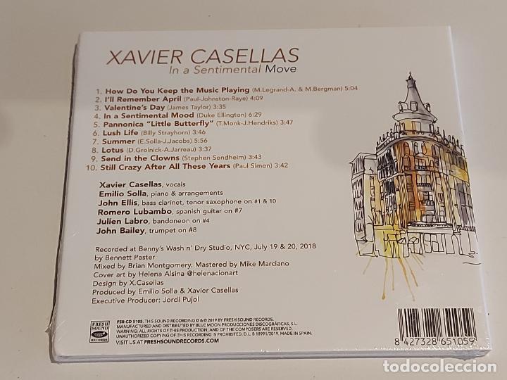 CDs de Música: XAVIER CASELLAS / IN A SENTIMENTAL MOVE / DIGIPACK-CD - FRENCH SOUND RECORDS / 10 TEMAS / PRECINTADO - Foto 2 - 253883700