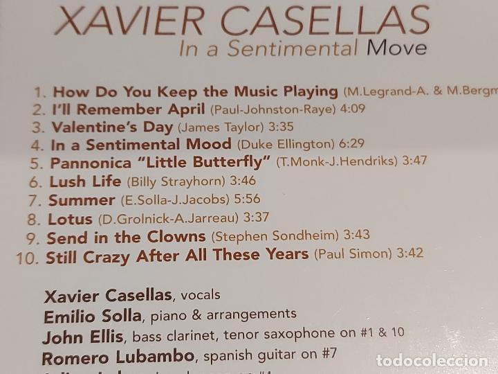 CDs de Música: XAVIER CASELLAS / IN A SENTIMENTAL MOVE / DIGIPACK-CD - FRENCH SOUND RECORDS / 10 TEMAS / PRECINTADO - Foto 3 - 253883700