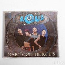 CDs de Música: AQUA / CARTOON HEROES (CD SINGLE DE 1999). Lote 253917355