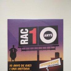 CDs de Música: RAC1 CD 10 ANYS. Lote 253995890