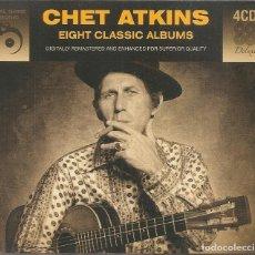 CDs de Música: CHET ATKINS - EIGHT CLASSIC ALBUMS (BOX SET CON 4 CD'S, REAL GONE MUSIC SIN FECHA). Lote 254048310
