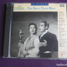 CDs de Música: CARMEN MORELL + PEPE BLANCO - CD EMI RECOP 12 TEMAS - CANCION MELODICA ESPAÑOLA - COCIDITO MADRILEÑO. Lote 254069510