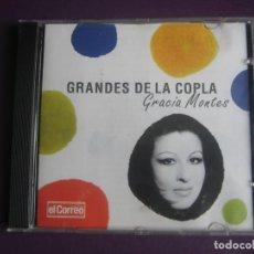 CDs de Música: GRANDES DE LA COPLA - GRACIA MONTES - CD RECOP 14 EXITOS CANCION ESPAÑOLA - COPLA. Lote 254073265