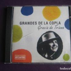 CDs de Música: GRANDES DE LA COPLA - GRACIA DE TRIANA - CD RECOP 16 EXITOS CANCION ESPAÑOLA - COPLA. Lote 254073470