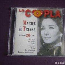 CDs de Música: MARIFE DE TRIANA - 20 GRANDES EXITOS - CD BMG SIN USO - CANCION ESPAÑOLA - COPLA CLASICA. Lote 254074435