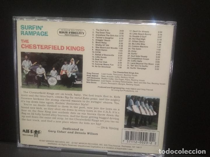 CDs de Música: THE CHESTERFIELD KINGS SURFIN RAMPAGE CD USA 1997 Pepeto Top - Foto 2 - 254154310