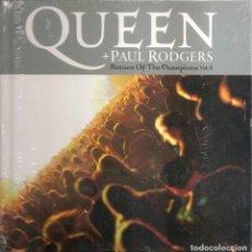 CDs de Música: QUEEN + PAUL RODGERS - RETURN OF THE CHAMPIONS 2 (CD + LIBRETO 30 PAG. EDICIONES PRIMERA PLANA 2008). Lote 254267395