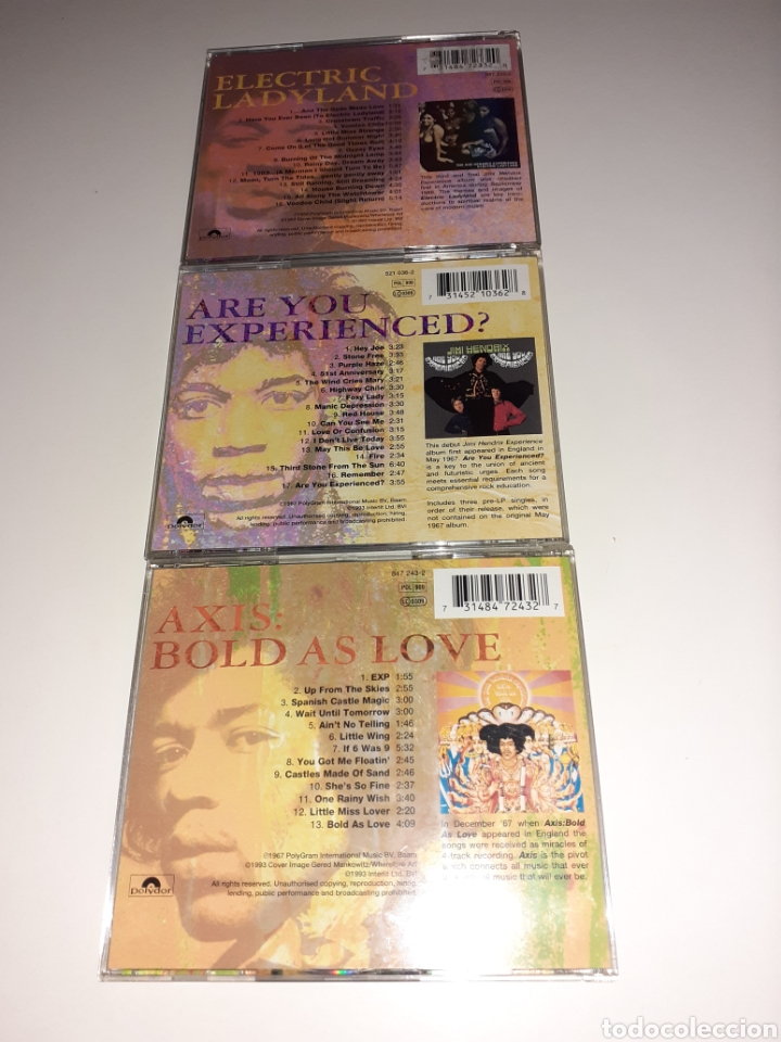 CDs de Música: Hendrix, Axis, ladyland, are you experienced, lote 3cd - Foto 3 - 254276780