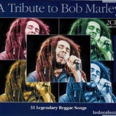 CDs de Música: A TRIBUTE TO BOB MARLEY. 31 LEGENDARY REGGAE SONGS. 2 X CD. Lote 254420190