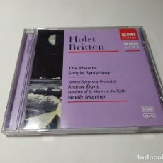 CDs de Música: CD - MUSICA - THE PLANETS - SIMPLE SYMPHONY - HOLST - BRITTEN- 7243 5 72998 2 4. Lote 254446730
