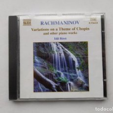 CDs de Música: RACHMANINOV VARIATIONS ON A THEME OF CHOPIN AND OTHER PIANO WORKS. IDIL BIRET. DDD. CD. TDKCD38. Lote 254454055