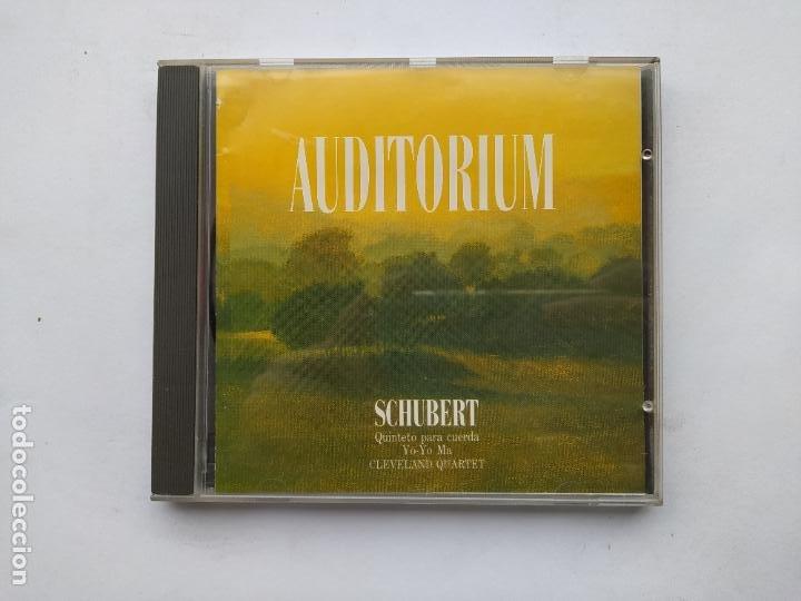 AUDITORIUM SCHUBERT. QUINTETO PARA CUERDA. YO YO MA CLEVELAND QUARTET. CD. TDKCD38 (Música - CD's Clásica, Ópera, Zarzuela y Marchas)