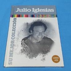 CDs de Música: LIBRO + CD JULIO IGLESIAS - NOCHE DE CUATRO LUNAS - SU MEJOR COLECCIÓN. Lote 254508330
