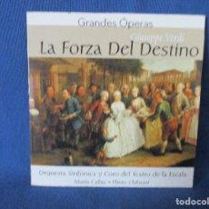 CDs de Música: CD - GRANDES ÓPERAS - GIUSEPPE VERDI - LA FORZA DEL DESTINO. Lote 254549630