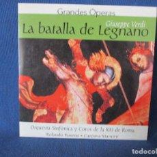 CDs de Música: CD - GRANDES ÓPERAS - GIUSEPPE VERDI - LA BATALLA DE LEGNANO. Lote 254550045