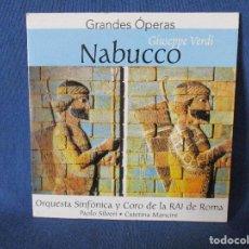 CDs de Música: CD - GRANDES ÓPERAS - GIUSEPPE VERDI - NABUCCO. Lote 254550770