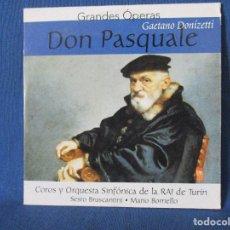 CDs de Música: CD - GRANDES ÓPERAS - GAETANO DONIZETTI - DON PASQUALE. Lote 254551460
