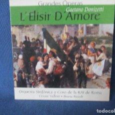 CDs de Música: CD - GRANDES ÓPERAS - GAETANO DONIZETTI - L´ELISIR D´AMORE. Lote 254552110