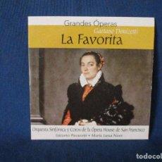CDs de Música: CD - GRANDES ÓPERAS - GAETANO DONIZETTI - LA FAVORITA. Lote 254552325