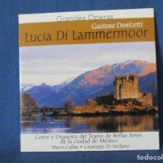 CDs de Música: CD - GRANDES ÓPERAS - GAETANO DONIZETTI - LUCIA DI LAMMERMOOR. Lote 254552485