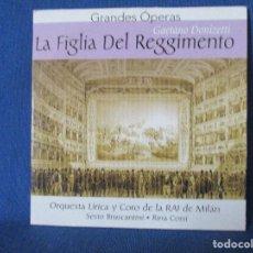 CDs de Música: CD - GRANDES ÓPERAS - GAETANO DONIZETTI - LA FIGLIA DEL REGGIMENTO. Lote 254552670
