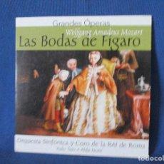 CDs de Música: CD - GRANDES ÓPERAS - WOLFGANG AMADEUS MOZART - LAS BODAS DE FÍGARO. Lote 254554585