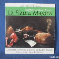 CDs de Música: CD - GRANDES ÓPERAS - WOLFGANG AMADEUS MOZART - LA FLAUTA MÁGICA. Lote 254555070
