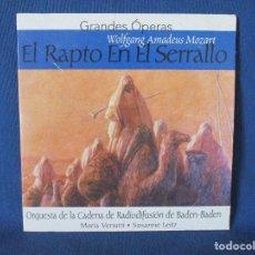 CDs de Música: CD - GRANDES ÓPERAS - WOLFGANG AMADEUS MOZART - EL RAPTO EN EL SERRALLO. Lote 254555790