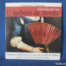 CDs de Música: CD - GRANDES ÓPERAS - GIOACCHINO ROSSINI - EL BARBERO DE SEVILLA. Lote 254558230