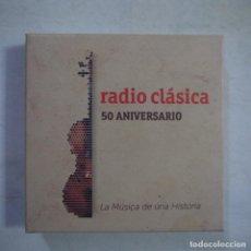 CDs de Música: RADIO CLASICA 50 ANIVERSARIO - LA MÚSICA DE UNA HISTORIA - CAJA CON 5 CD+LIBRETO. Lote 254558580