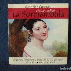CDs de Música: CD - GRANDES ÓPERAS - VINCENZO BELLINI - LA SONNAMBULA. Lote 254559810