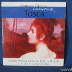 CDs de Música: CD - GRANDES ÓPERAS - GIACOMO PUCCINI - TOSCA. Lote 254560430
