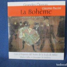 CDs de Música: CD - GRANDES ÓPERAS - GIACOMO PUCCINI - LA BOHÈME. Lote 254561970