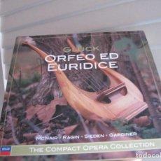 CDs de Música: GLUCK. ORFEO ED EURIDICE. MCNAIR - RAGIN - SIEDEN - GARDINER. THE COMPACT OPERA COLLECTION 2 CDS. Lote 254587670