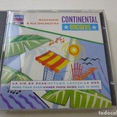 CD de Música: MANTOVANI & HIS ORCHESTRA - CONTINENTAL ENCORES - CD - C 6. Lote 254595155