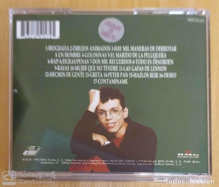 CDs de Música: PEDRO GUERRA (GOLOSINAS - GRABADO EN DIRECTO) CD 1995 - Foto 2 - 254611170
