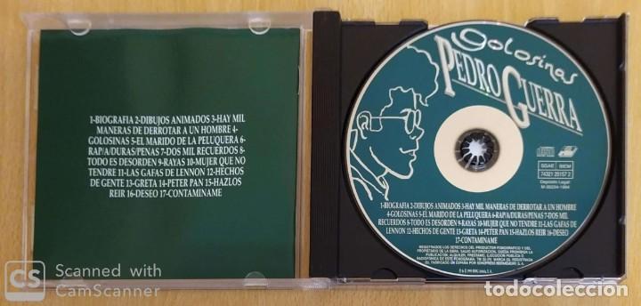 CDs de Música: PEDRO GUERRA (GOLOSINAS - GRABADO EN DIRECTO) CD 1995 - Foto 3 - 254611170