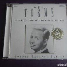 CDs de Música: MEL TORMÉ – I'VE GOT THE WORLD ON A STRING - CD PILZ - CROONER POP JAZZ 50'S 60'S - LEVE USO. Lote 254611840