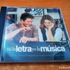 CDs de Música: TU LA LETRA Y YO LA MUSICA BANDA SONORA CD ALBUM 2007 HUGH GRANT DREW BARRYMORE 12 TEMAS. Lote 254615820