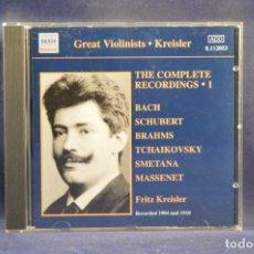 CDs de Música: KREISLER - KREISLER / BACH / BRAHMS / TCHAIKOVSKY... - THE COMPLETE CONCERTO RECORDINGS 1 - CD. Lote 254690135