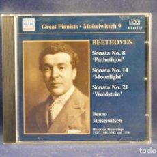 """CDs de Música: BEETHOVEN - SONATA NO. 8 """"PATHETIQUE"""" / SONATA NO. 14 """"MOONLIGHT"""" / SONATA NO. 21 """"WALDSTEIN"""" - CD. Lote 254691005"""