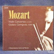 CDs de Música: MOZART / IL QUARTETTONE, CARLO DE MARTINI , VIOLIN GIULIANO. - VIOLIN CONCERTOS (COMPLETE) - 2 CD. Lote 254724780